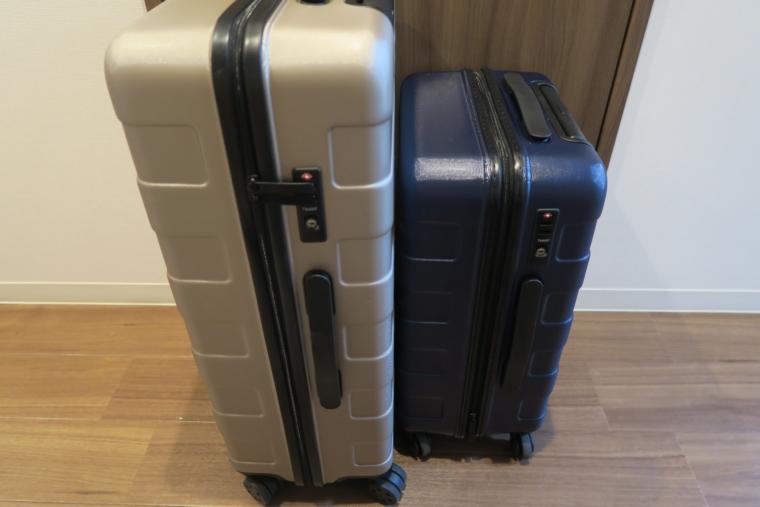 無印良品のスーツケースの大きを比較