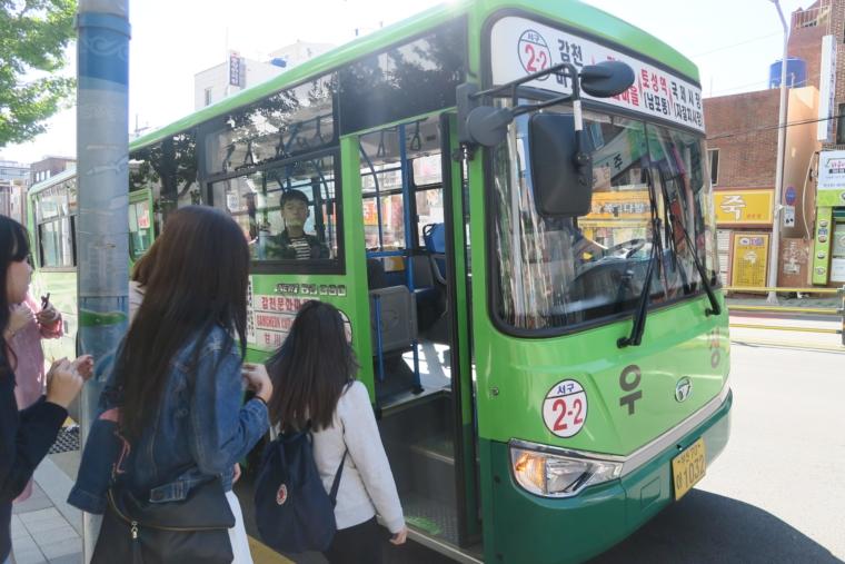 甘川文化村へのバス停
