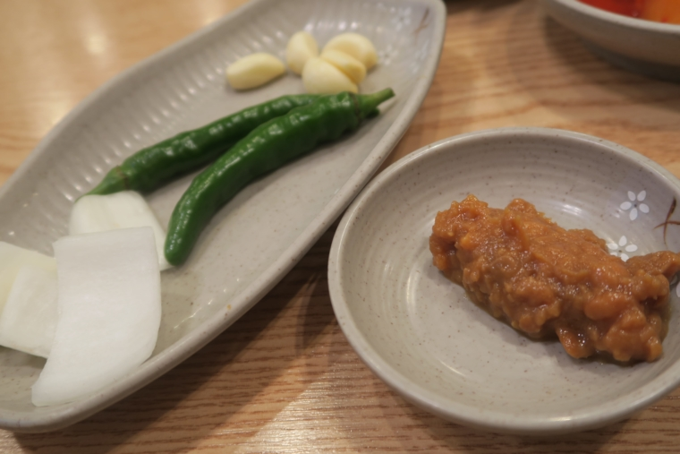 青唐辛子と味噌