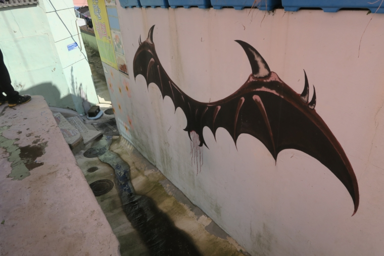 悪魔の壁画