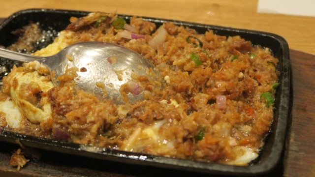 SIZZLING SISIG WITH EGG