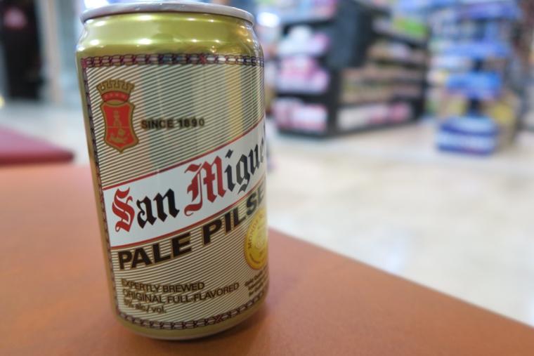 空港で飲むビール