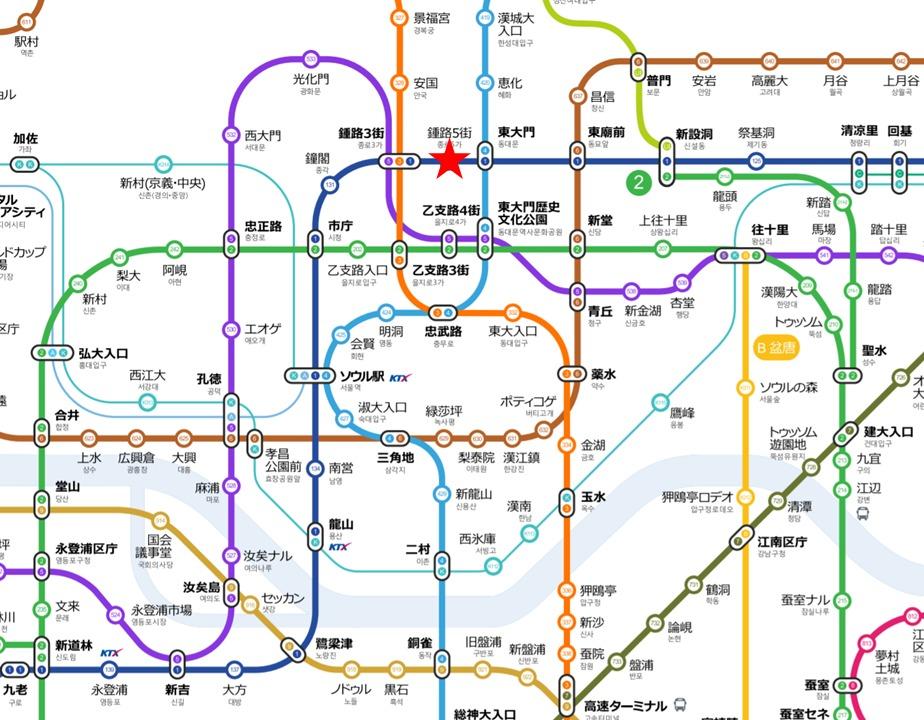 広蔵市場最寄り駅