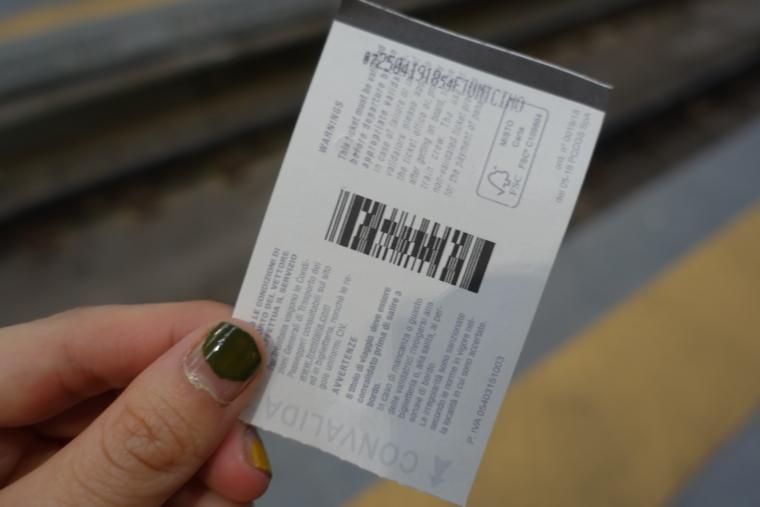 チケット バーコード