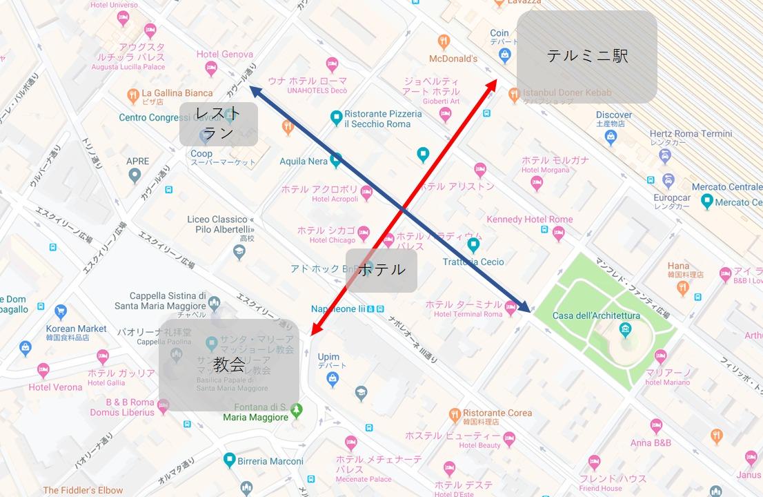 ホテルちかくのmap